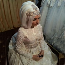 kejiadian Muslim wedding Dresses Long Sleeve