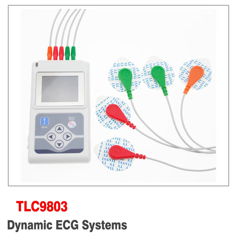 Diagnostic-tool TLC9803 Portable Cable Heart Monitoring 3 Channels Dynamic ECG System 24hours ECG Recorder Monitor System Holter цена