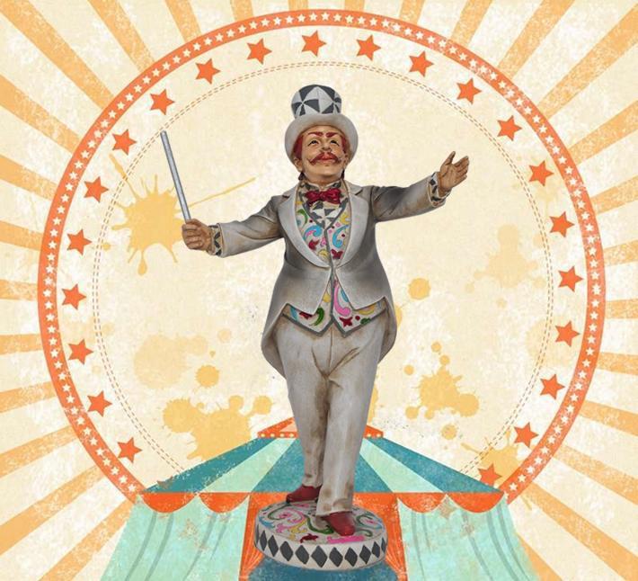 Cirque Magicien Sculpture À La Main Résine Illusionniste Figurine Carnaval Décoration Cadeau et Artisanat Souvenir Ornement Accessoires