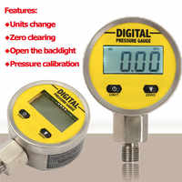 Pressure Gauges Digital Display Oil Pressure Hydraulic Pressure Test Meter 3V 250BAR/25Mpa 2 Points Thread For Gas Water Oil