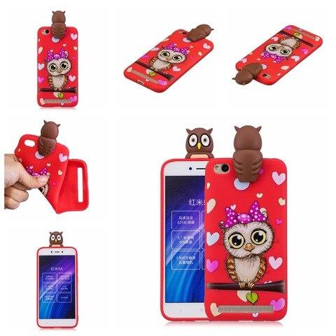 Soft TPU Phone Case for Coque Xiaomi Red Note 5 6 Red 6A 7 GO Note 7 6 Pro Cover panda unicorn owl Cartoon Doll Toys Etui Funda Multan