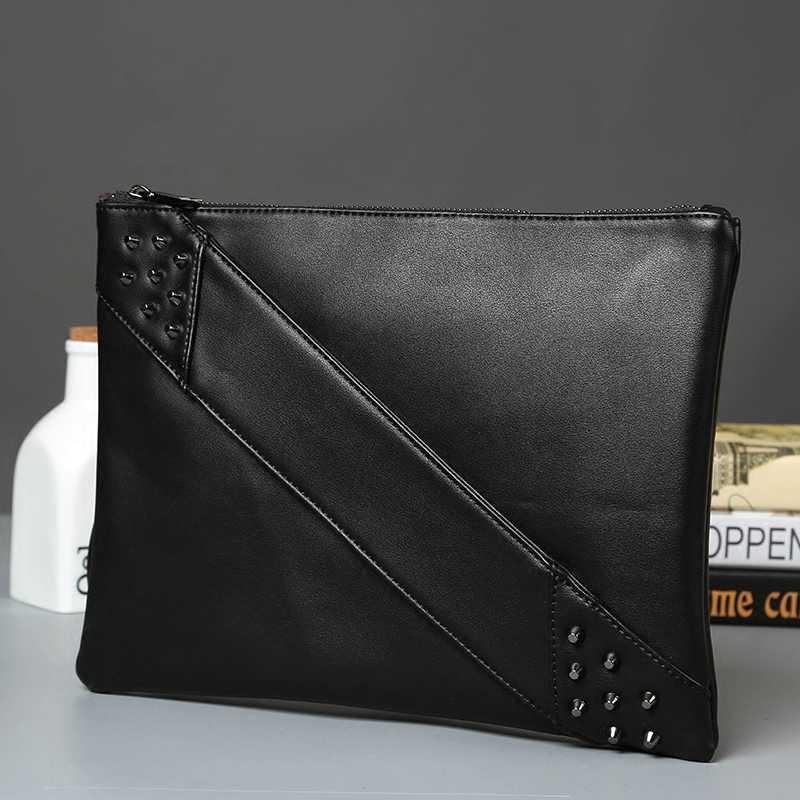 9cc69c3b31a2 ... Модные заклепки для женщин клатчи Роскошные дизайнерская сумка-конверт  клатч кошелек из искусственной кожи сумка ...