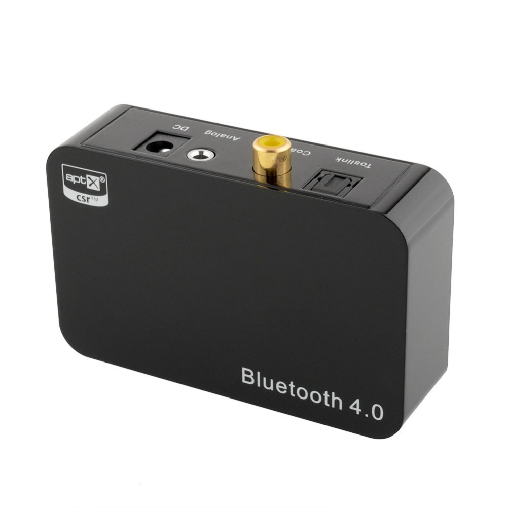 New Bluetooth Music Receiver Aptx Wireless Bluetooth 4.0 Audio Adapter Digital Optical Coaxial Analog 3.5mm Output