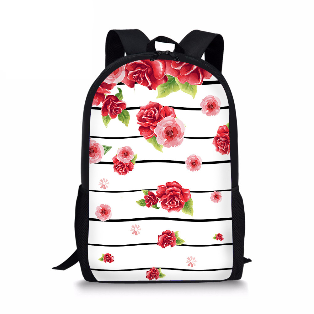 2018 New Children School Bag Flower Printing Beauty Schoolbag Backpack FOR Teenage Girls Female Mochila Sac A Dos