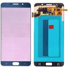 Orijinal Amoled N920C samsung LCD Galaxy Not 5 LCD Çerçeve Dokunmatik Ekran Meclisi SM N920F LCD ekran Ekran Yanık Gölge