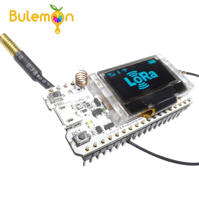 LoRa ESP32 0,96 zoll Blau OLED Display SX1278 Bluetooth WIFI Lora Kit 32 Modul Internet Entwicklung Board für Arduino w /antenne