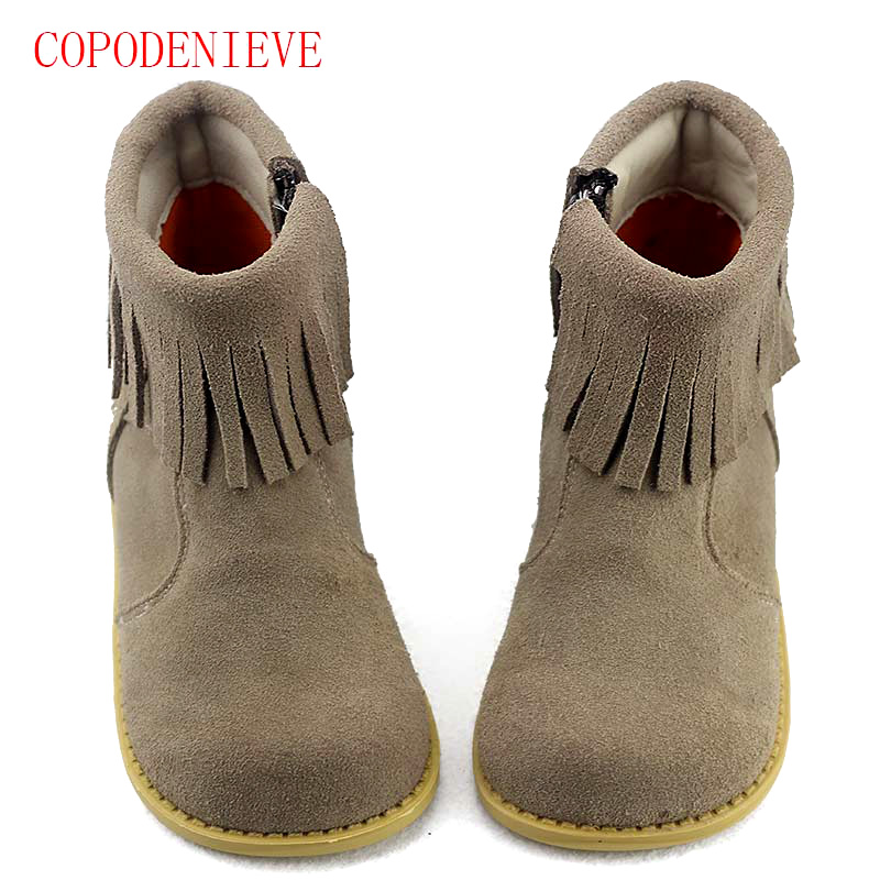 Image 4 - Winter warm boots for girls children's shoes girls snow boots girl baby fringe boots kids martin boots warm shoes-in Boots from Mother & Kids