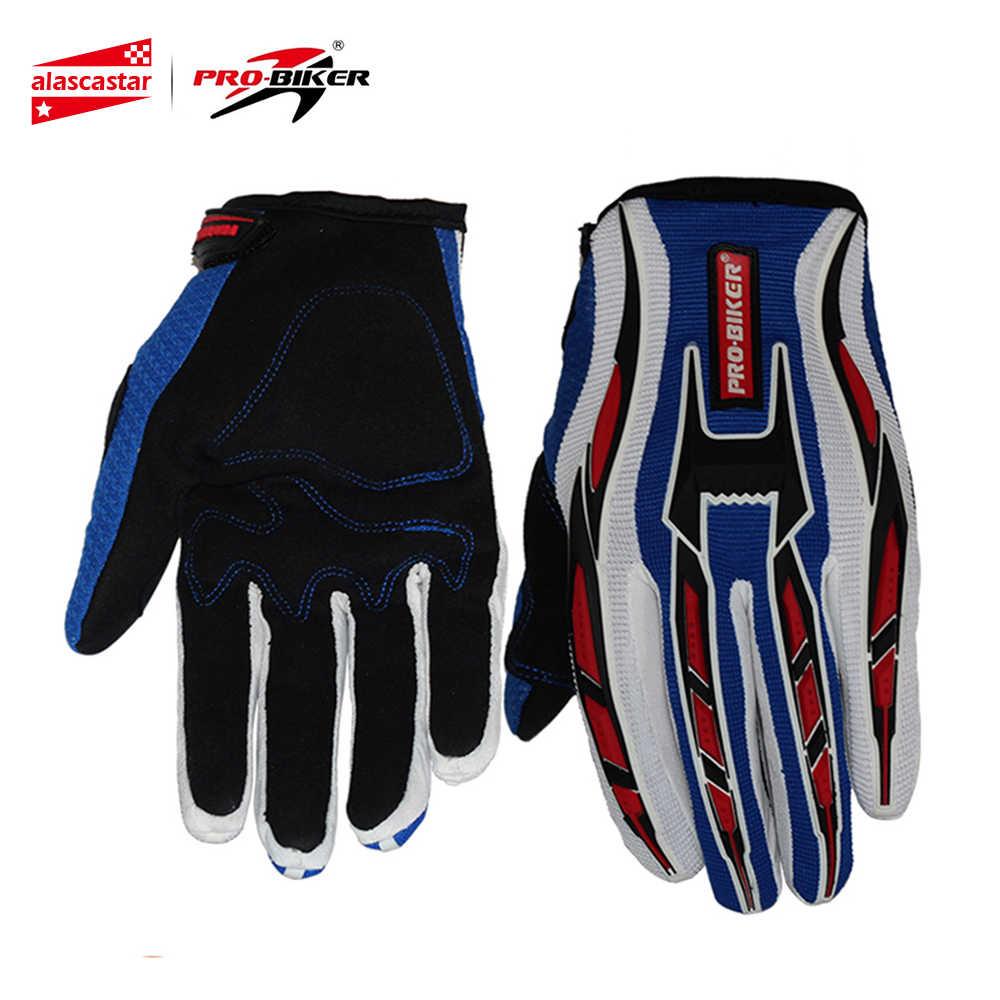 プロバイカーオートバイバイクライディン手袋フル指手袋モトクロスオフロードレースの手袋 Luvas ダ Motocicleta Luva モト