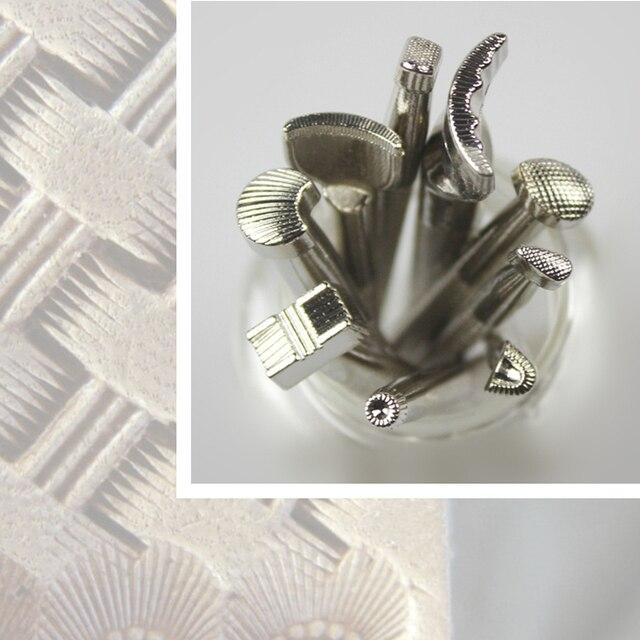 9 unids paquete artesanía de Cuero cuero vintage talladores patrones ...