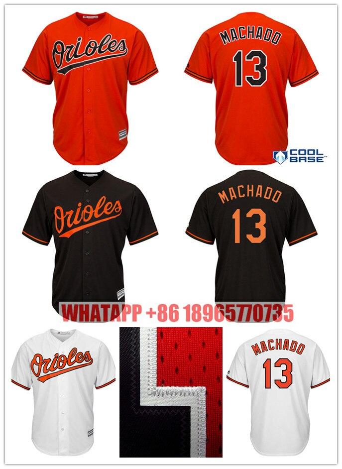 e4e24b7e636 ... Mesh Embroidery Mens 13 Manny Machado Retro jersey Stitched Majestic  White Orange Alternate Cool Base Player 13 Manny Machado Jersey Baltimore  Orioles ...
