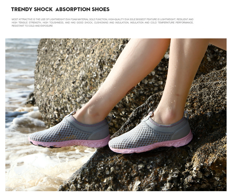 Bjakin Air Mesh Woman Aqua Shoes Summer New Water Beach Shoes Water ... 305ecc13c5cc