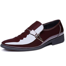 2018 new dance shoes Patent leather Oxford shoes Zapatos de hombre men clothing shoes pointed leather luxury wedding shoes 206