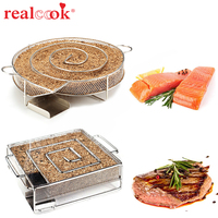 Hot Sale Cold Smoker Generator For Steel Smoker Barbecue Grill 2015 New Arrival Cooking Tools For