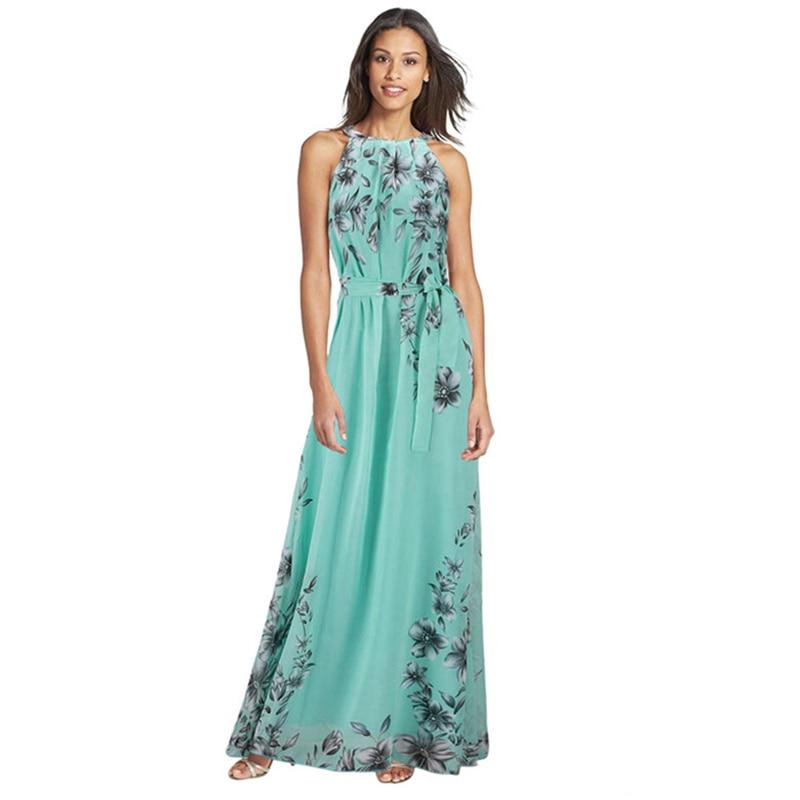 2017 más el tamaño 6xl vestiods mujeres moda flora impresión maxi vestidos largo