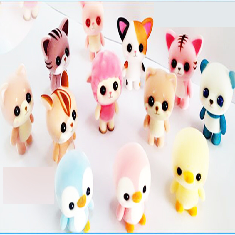 1PCS 8cm mini kawaii cute villus Japanese original forest animal cat/panda/duck action figure best kids toys for girls lps pet shop toys rare black little cat blue eyes animal models patrulla canina action figures kids toys gift cat free shipping