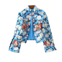 New 2018 spring fashion super model style and high end women's clothes short jacquard coats