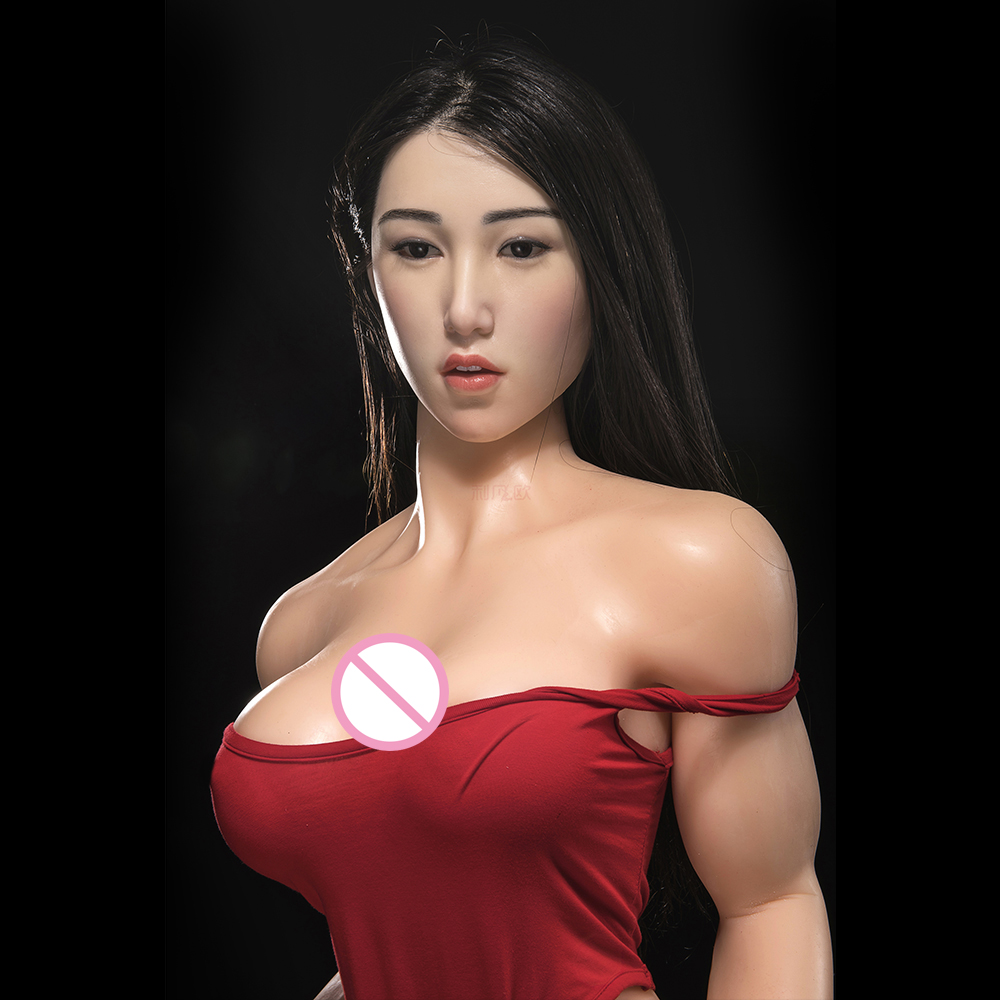 Cosdoll 165cm Sex Toys Athlete Muscle Women Realistic Pussy Vagina Silicone Head Dolls for Men