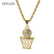 6c569175531 Collier pendentif en alliage de couleur or cristal de haute qualité pour  femmes hommes bijoux de