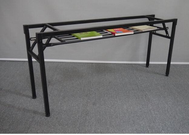 Folding frame. The table leg iron frame. Fold training table legs. Meeting. Activity table leg