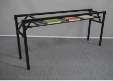 Folding frame. The table leg iron frame. Fold training table legs. Meeting. Activity table leg