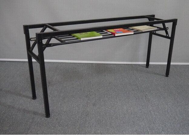 US $91.8 15% di SCONTO|Telaio pieghevole. la gamba del tavolo struttura in  ferro. Fold formazione gambe del tavolo. riunione. attività gamba del ...