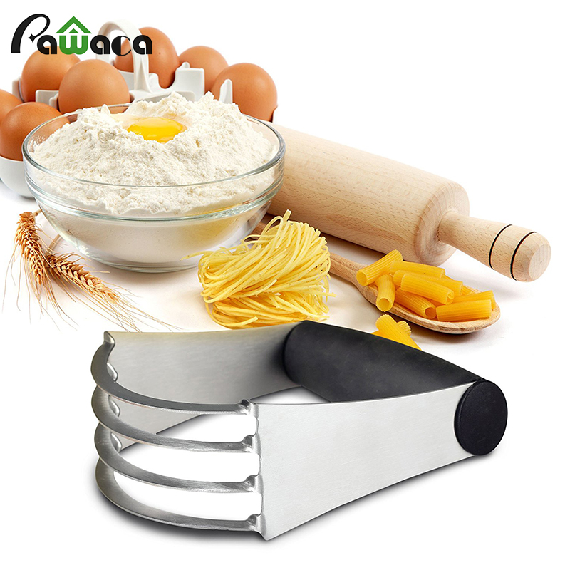 Effortless Mixing Handheld Pastry Cutter Flour Stainless Steel Professional Baking Dough Blender With Blades Knife Cake Tools