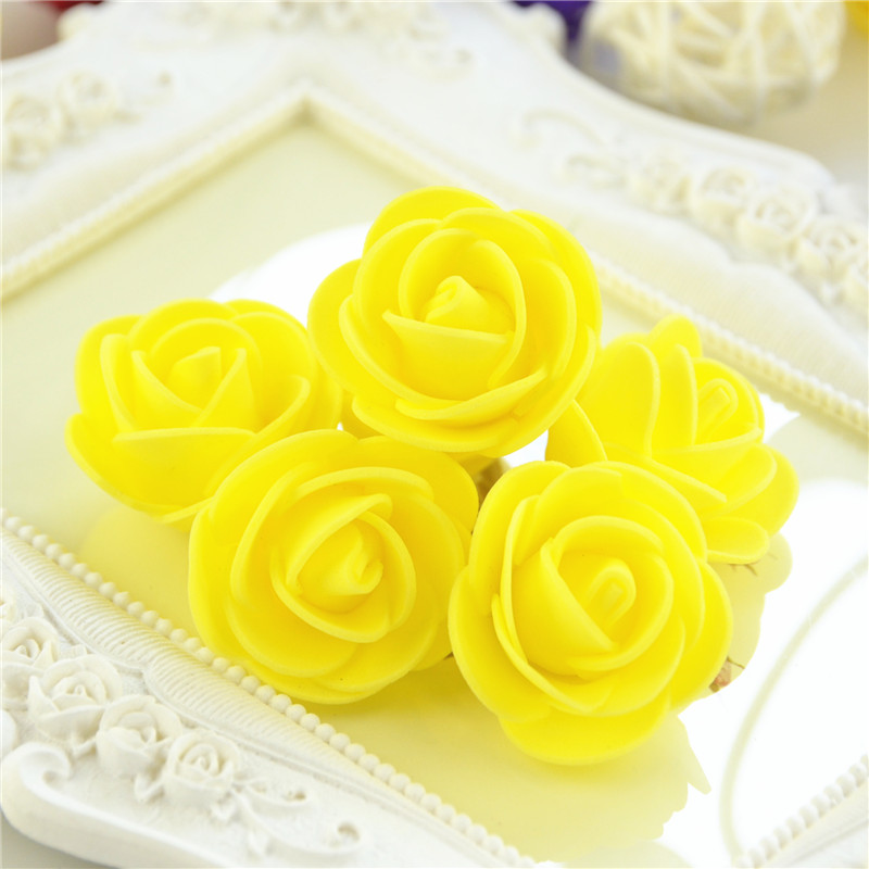 50pcs/Bag Multicolor Mini Rose Head Artificial Flowers For Wedding And Festival Party 21