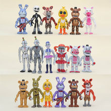 10cm 6Pcs/set FANF Five Nights At Freddy's figure Toy Nightmare Mangle Foxy Freddy Bear Chica Bonnie plush Figures Toys as Gifts(China)