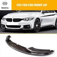 F32 F33 F36 Carbon Fiber Front Bumper Lip Spoiler for BMW F32 F33 F36 420i 428d 435d 420d 428d 435d M tech M Sport Bumper