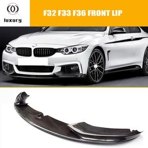 F32 f33 f36 amortecedor dianteiro de fibra de carbono spoiler para bmw f32 f33 f36 420i 428d 435d 420d 428d 435d m-tech m-sport pára-choques