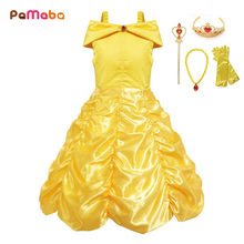 PaMaBa Handpick Belle Princess Dress Cosplay Costume for Toddler Baby Girls Summer Dresses Party Supplies Ball Gown Vestidos(China)
