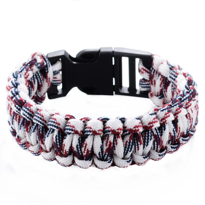 Outdoor Camping Survival Bracelet Paracord Bracelets KIT Military Emergency Survival Bracelet Men Women Rope Charm Bracelets Браслет