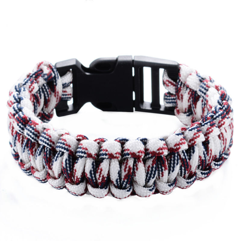 Outdoor Camping Survival Armbånd Paracord Armbånd KIT Military - Mode smykker