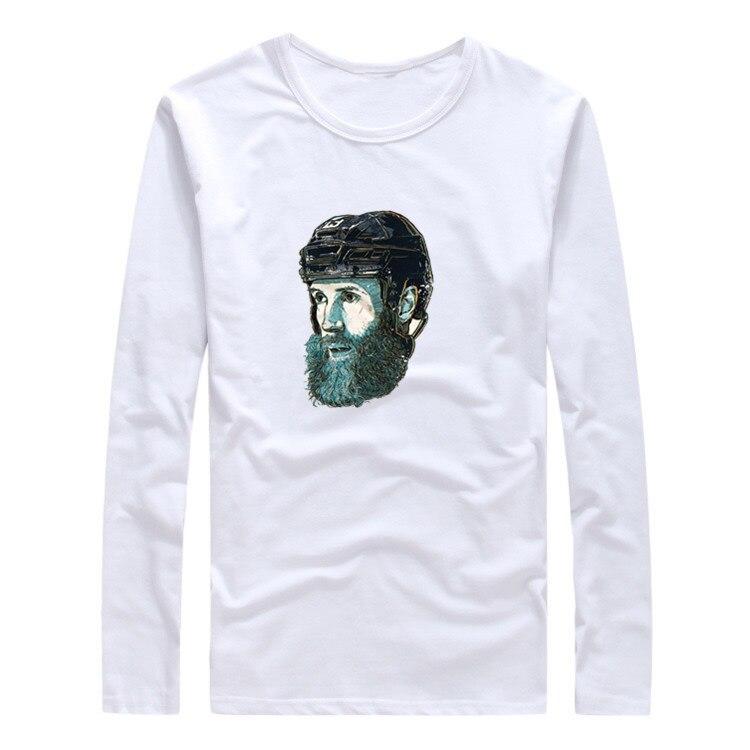 2017 San Jose Joe Thornton Face Autumn Winter women T-Shirt Long Sleeve Tees T SHIRT Sharks W1120106