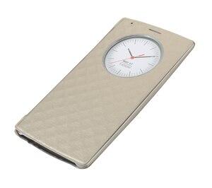 Image 4 - Pour LG G4 étui de cercle intelligent rapide couverture arrière en cuir à rabat officiel de luxe avec charge sans fil NFC et Qi
