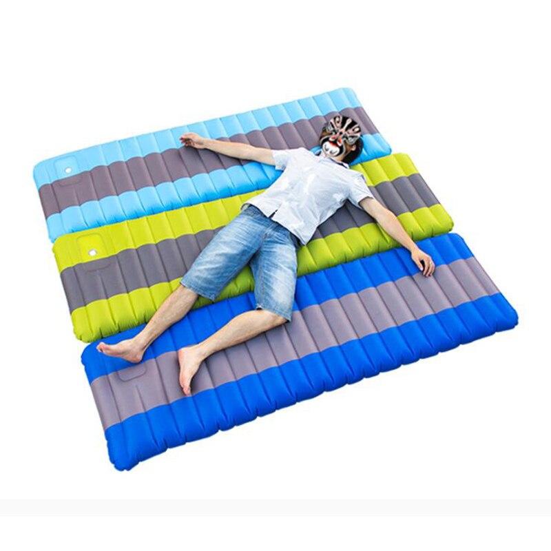190x60x12cm Inflatable Camping Cushion 12cm Air Mattress Self Inflatable Camping Mat Sleeping Pad Inflatable Sleeping Pad Thickn inflatable mattress camping mat sleeping mat outdoor cushions inflatable air mattress camping sleeping pad