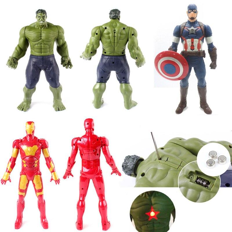 9916 Marvel Avengers Captain America Iron Man Hulk PVC Action Figure Robot Toy 12 30cm Superhero 1pcs marvel select avengers hulk pvc action figure collectible model toy 10 25cm