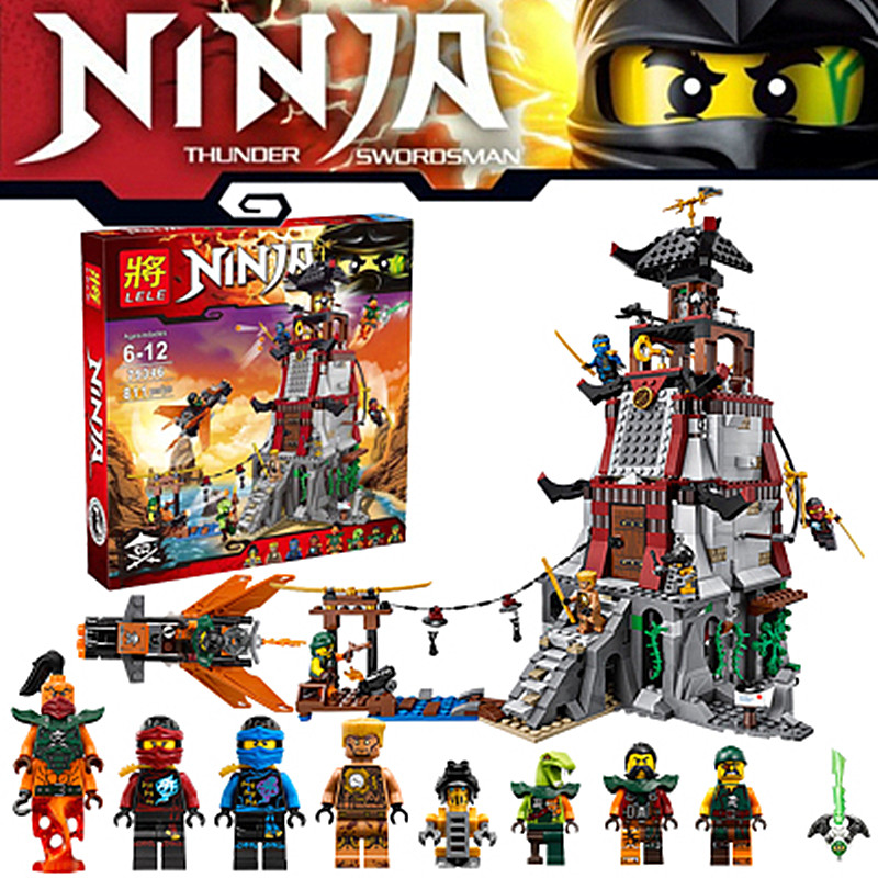 815pcs Anime Ninja The Lighthouse Siege Weapon figure Echo Zane Battle Clancee Nadakhan Sqiff Nya Jay Building Blocks the black echo