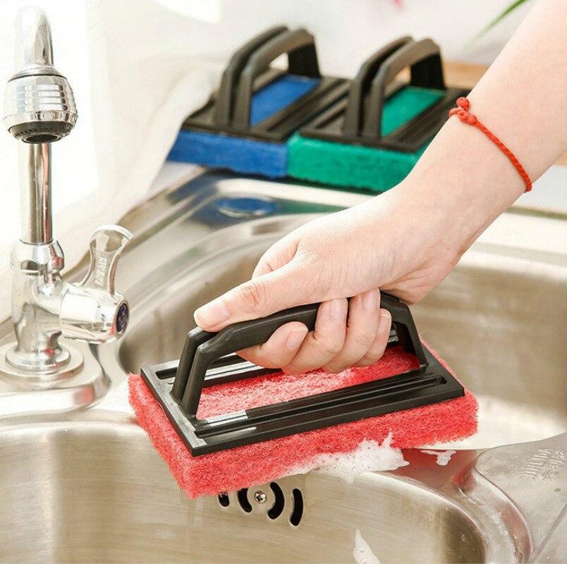 manico corto spazzola di pulizia della cucina spugna di pulizia di lavaggio pennelli brush bollitore piastrelle