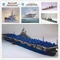 Сша бесстрашный авианосец 3D бумажная модель класса эгида разрушитель военный корабль игрушки бумага искусство