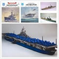U.S Fearless Aircraft carrier 3D paper model class Aegis destroyer warship toy paper art