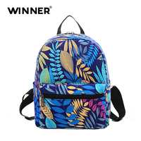 Fashion Female Korean Version The New Canvas Female Backpack College Wind Mini Small Backpack Mummy Multifunction