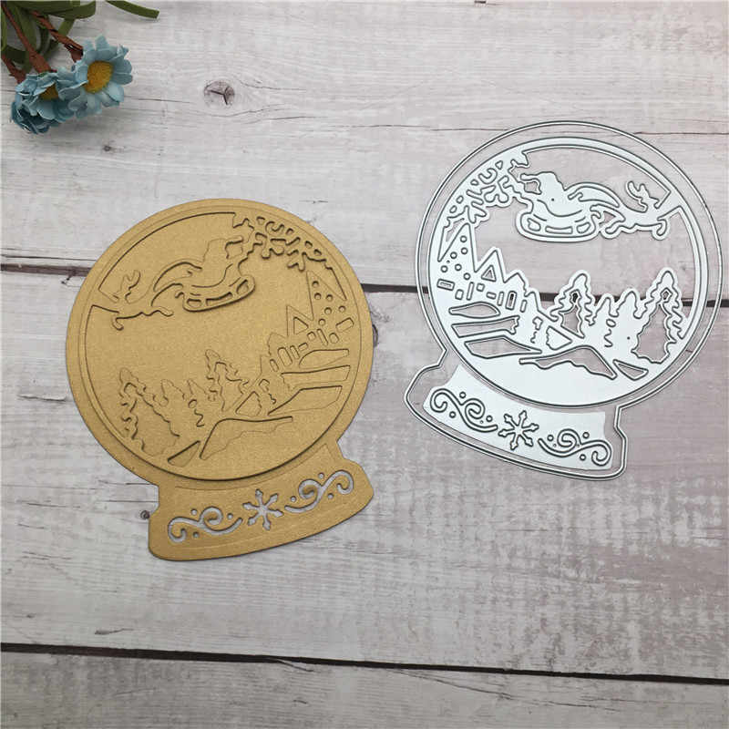 DIY Hot Sale Selamat Natal Metal Cutting Dies Stensil Buku Album Scrapbooking Embossing Kerajinan Diy Scrapbooking