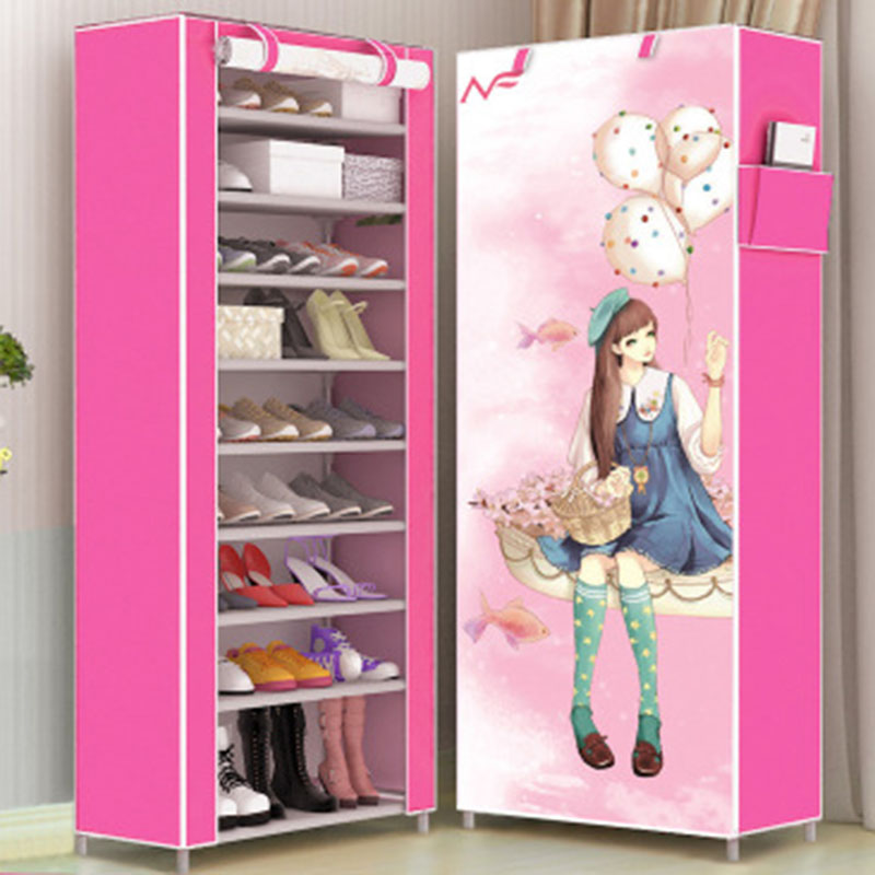 Fashion Modern Ten Layers 3D Pattern Cartoon Shoe Cabinet Non-woven Cloth Shoe Shelf Space Saver Shoe Rack OrganizerFashion Modern Ten Layers 3D Pattern Cartoon Shoe Cabinet Non-woven Cloth Shoe Shelf Space Saver Shoe Rack Organizer