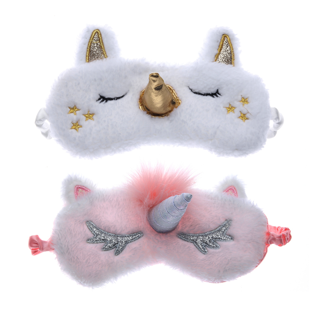 1Pcs Unicorn Cute Sleeping Mask Eye Shade Cover Patch For Girl Kid Teen Blindfold Travel Makeup Eye Care Tools Night Accessories