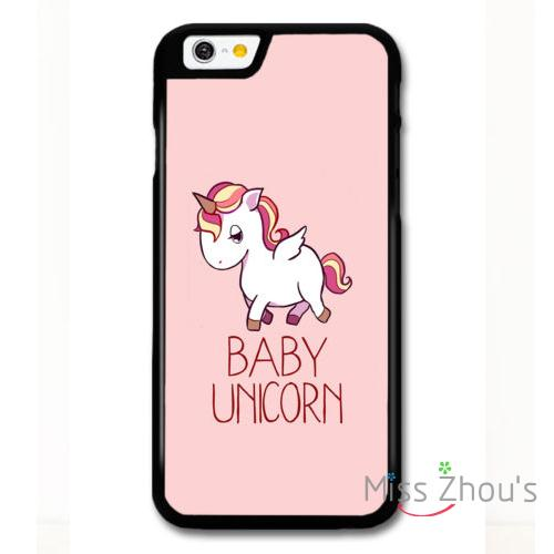 For iphone 4/4s 5/5s 5c SE 6/6s plus ipod touch 4/5/6 back skins mobile cellphone cases cover Cute Baby Unicorn on Girly Pink