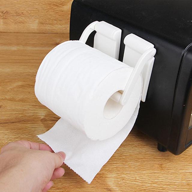 Magnetic Tissue Towel Holder Barthroom Toilet Paper Rack Hanger Separating Kitchen Refrigerator Roll Paper Storage Holder Hook