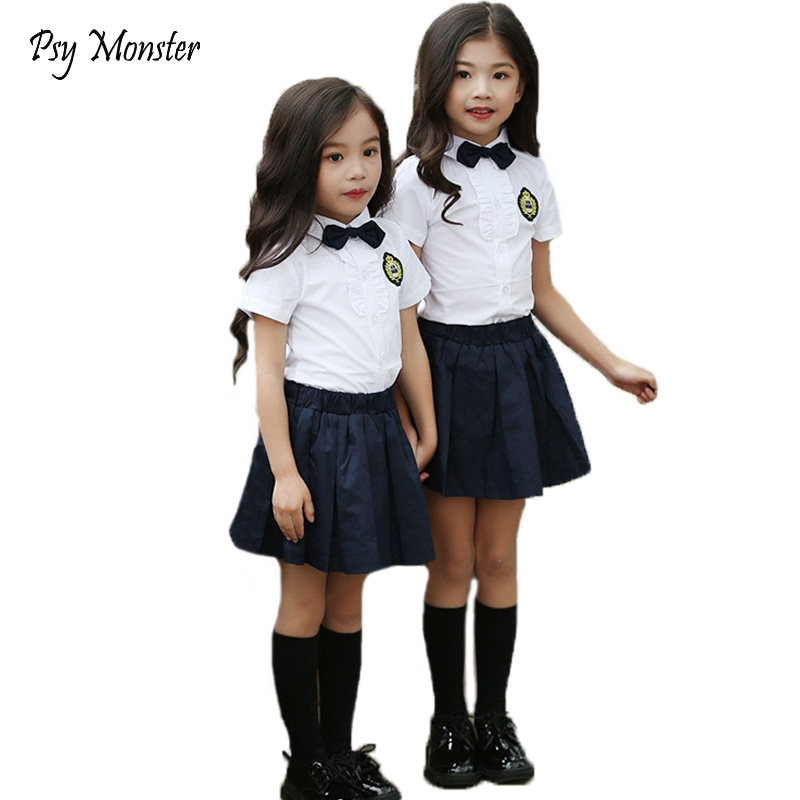 Preppy School Uniforms for Girls Boys Children Korean Japanese Student Formal Dress Kids Shirt Pleated Skirt Pants Tie Clothes цена