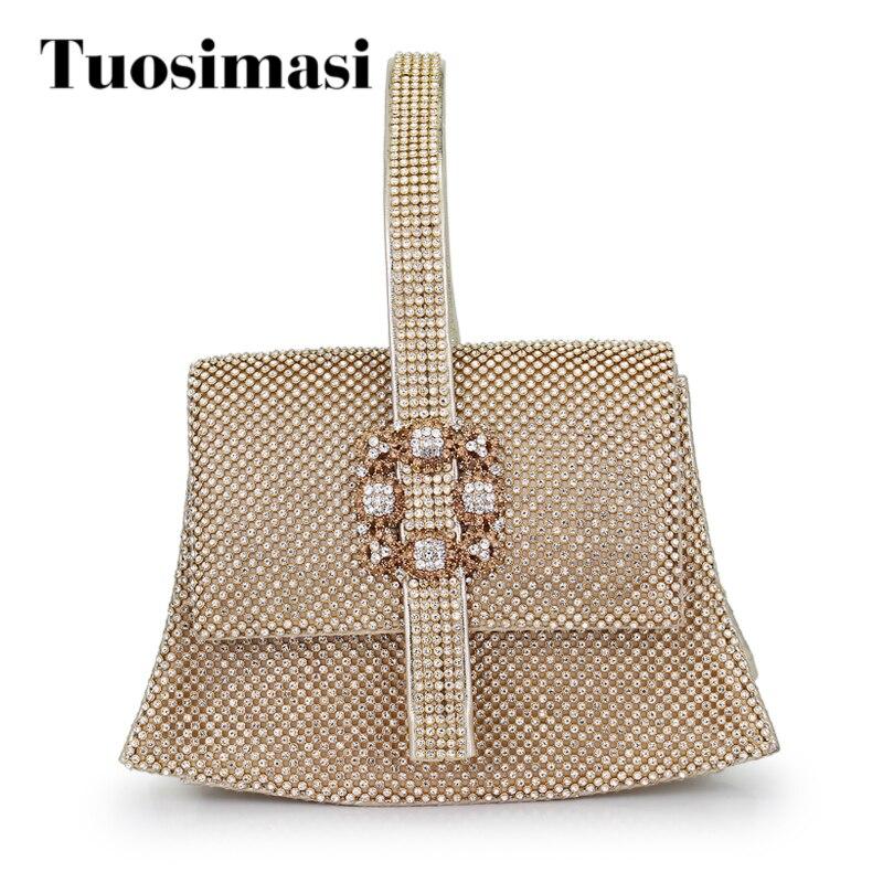 ae19055184a8 Női kristály esti táska tele van gyémántokkal Fém Elegáns Lady napi ...