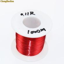 ChengHaoRan 1000 เมตร 0.1 มิลลิเมตรสีแดงใหม่ polyurethane เคลือบทองแดงลวด flying lead QA 1 155